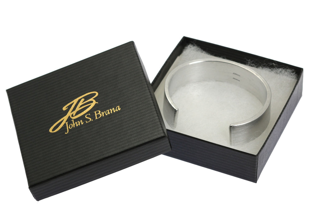 19mm Brushed Aluminum Cuff Bracelet - johnsbrana - 7