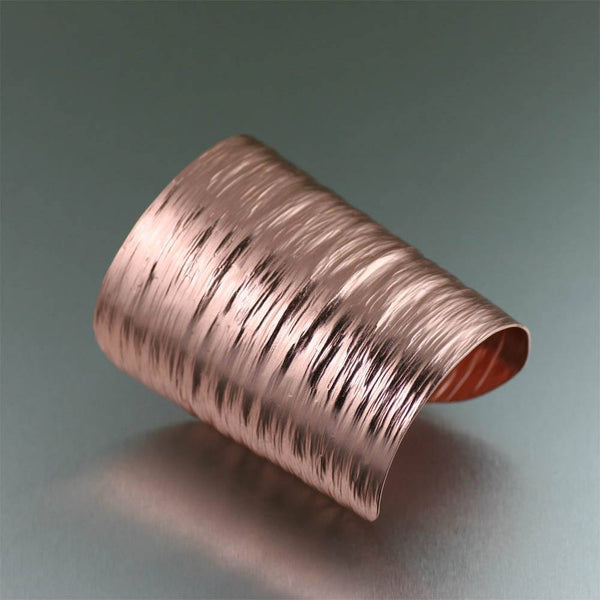3 Inch Copper Bark Cuff Bracelet - johnsbrana - 1