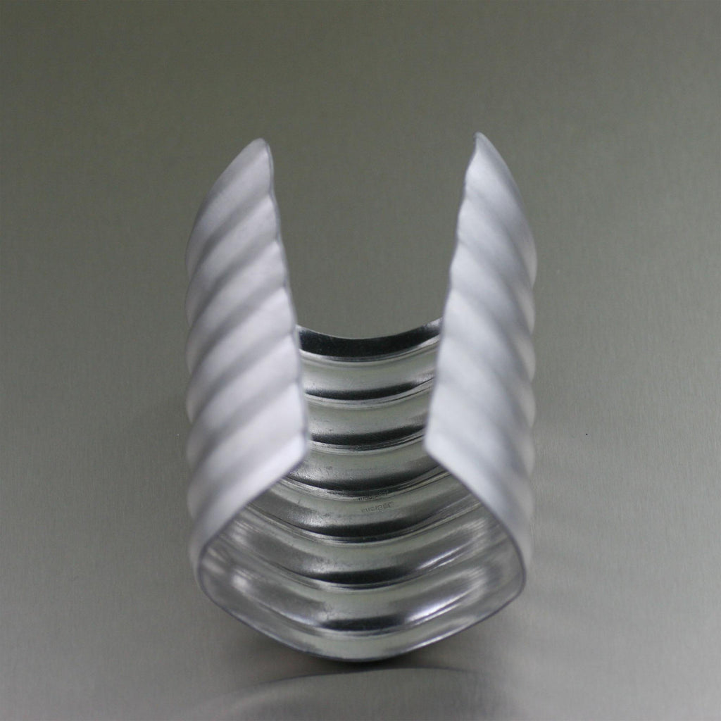 Brushed Aluminum Wave Cuff - johnsbrana - 3