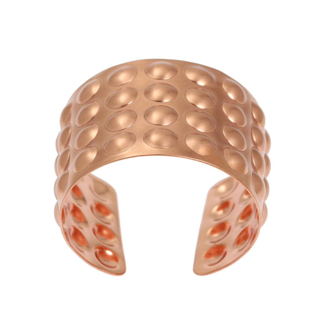 Brushed Copper Bubble Wrap Cuff Bracelet - johnsbrana - 3