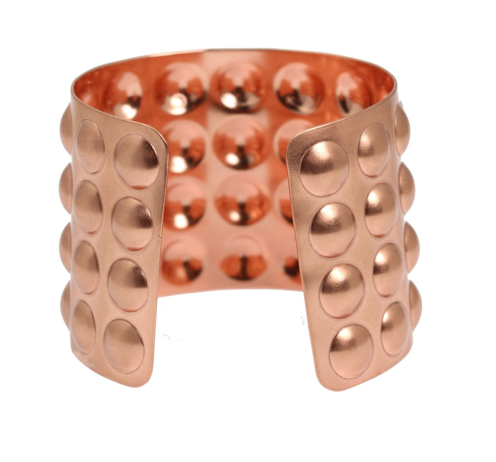 Brushed Copper Bubble Wrap Cuff Bracelet - johnsbrana - 4