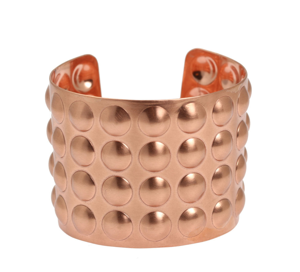 Brushed Copper Bubble Wrap Cuff Bracelet - johnsbrana - 5