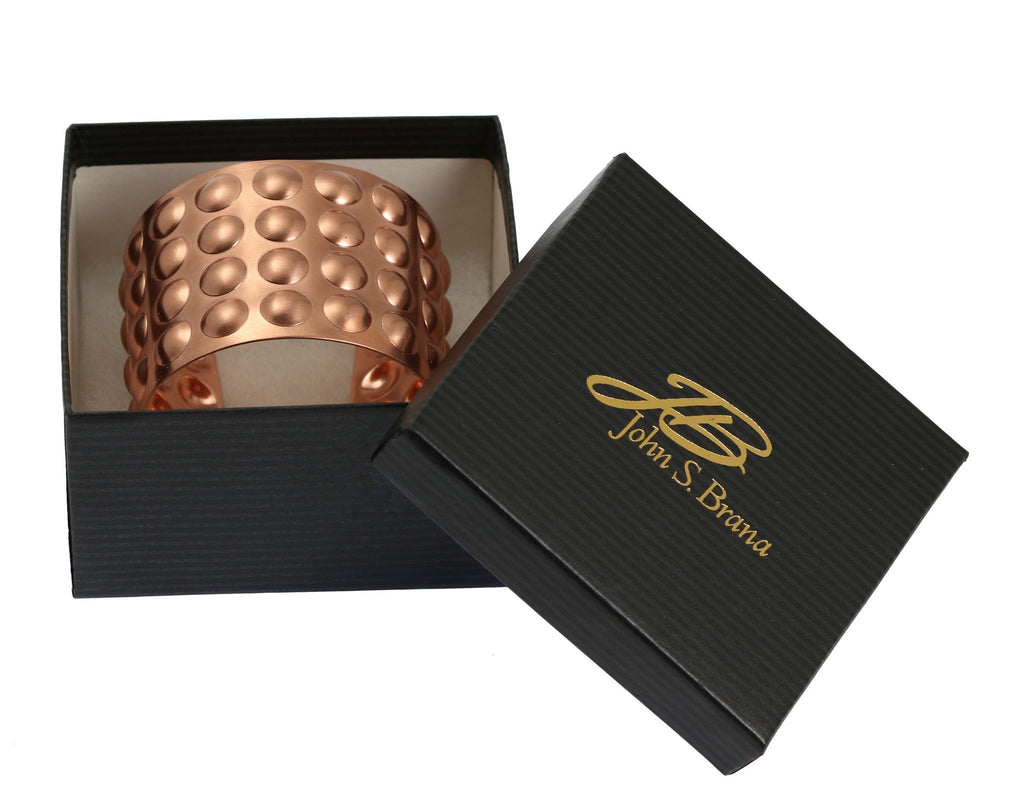 Brushed Copper Bubble Wrap Cuff Bracelet - johnsbrana - 6