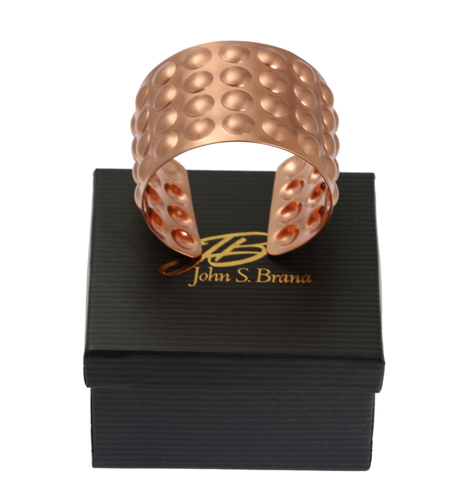 Brushed Copper Bubble Wrap Cuff Bracelet - johnsbrana - 7