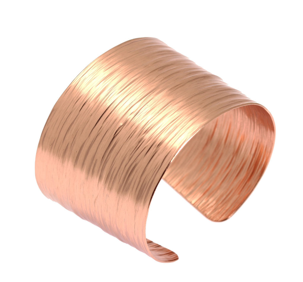 Chased Copper Bark Cuff Bracelet - johnsbrana - 1