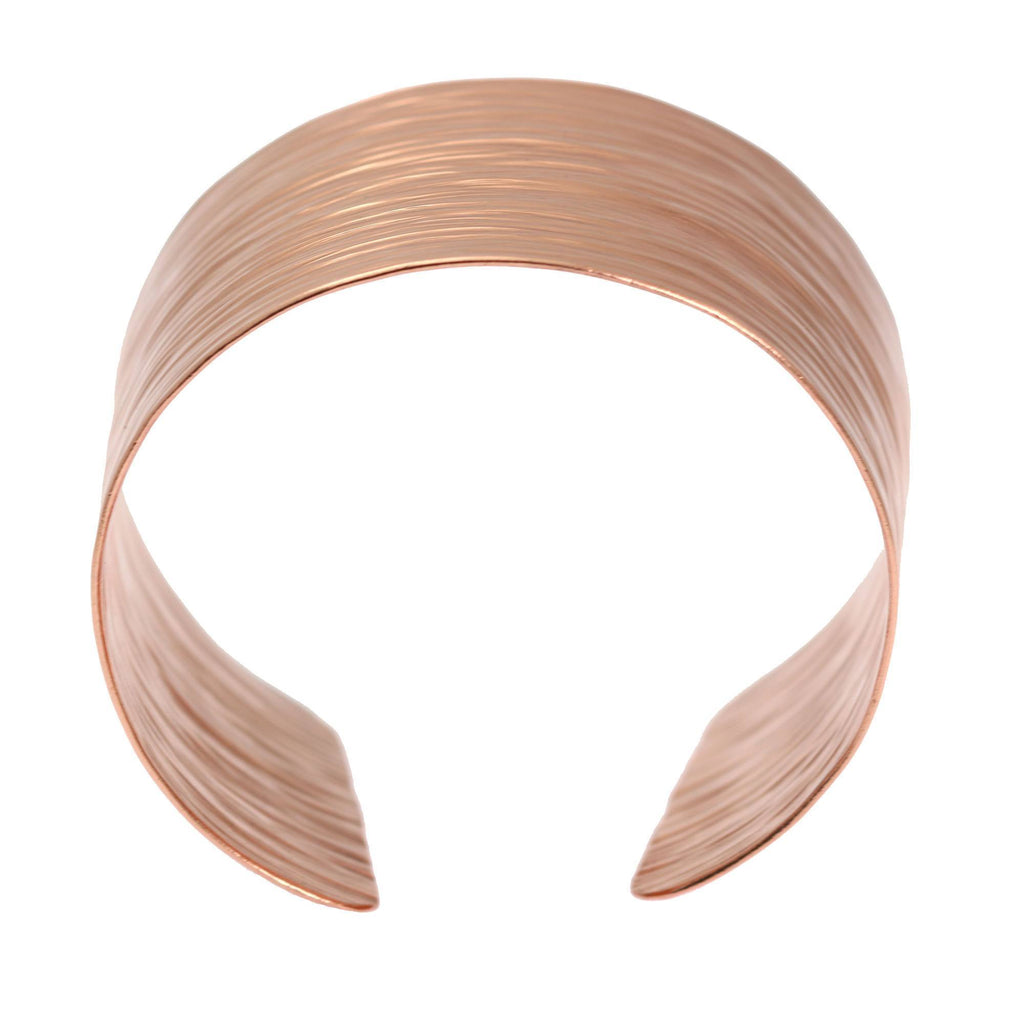 Chased Copper Bark Cuff Bracelet - johnsbrana - 3