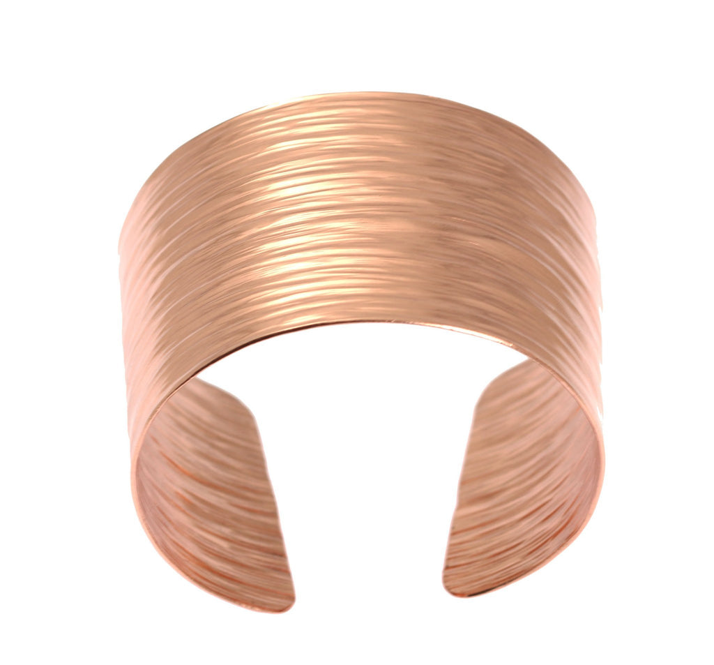 Chased Copper Bark Cuff Bracelet - johnsbrana - 4