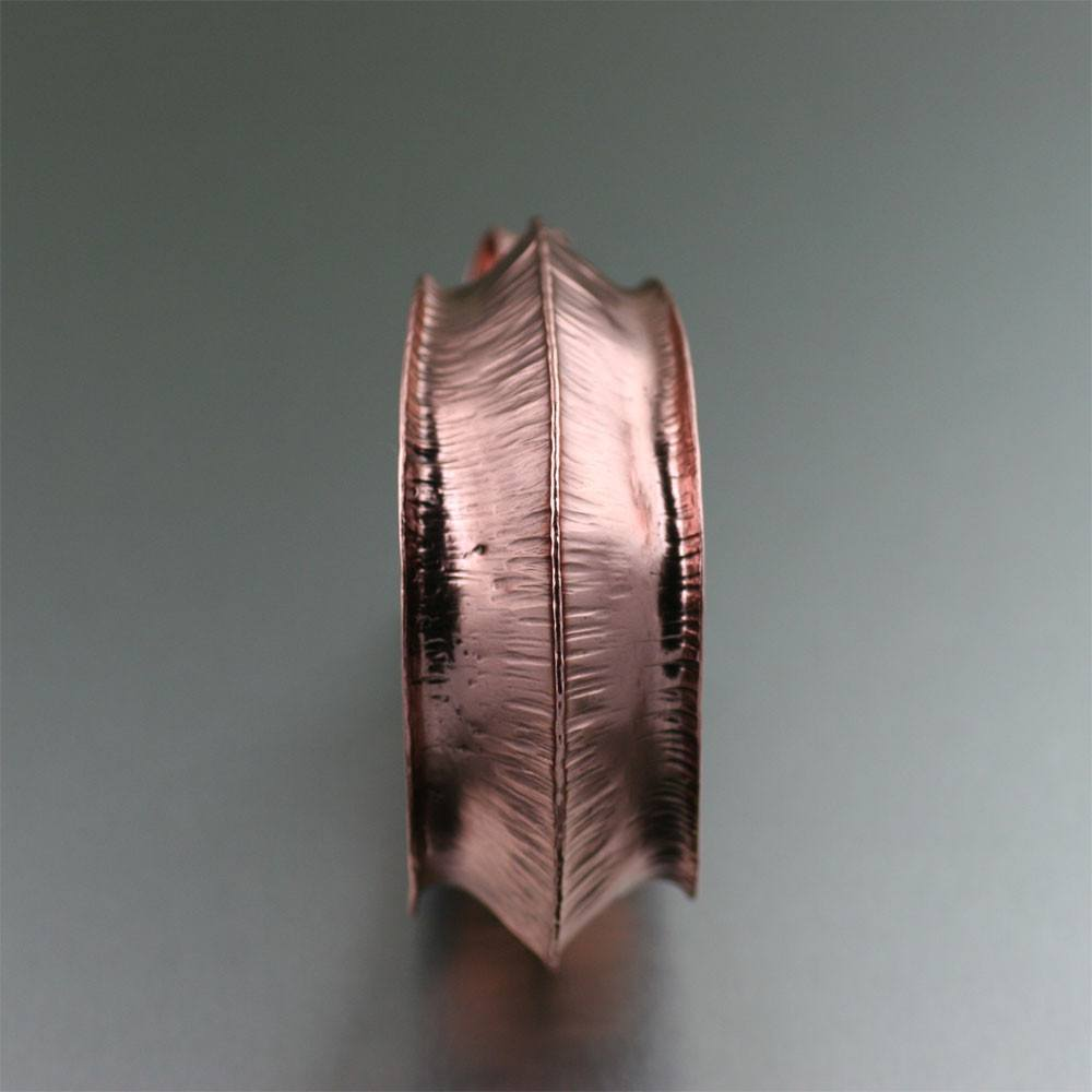 Cuffs - Chased Fold Formed Copper Cuff
