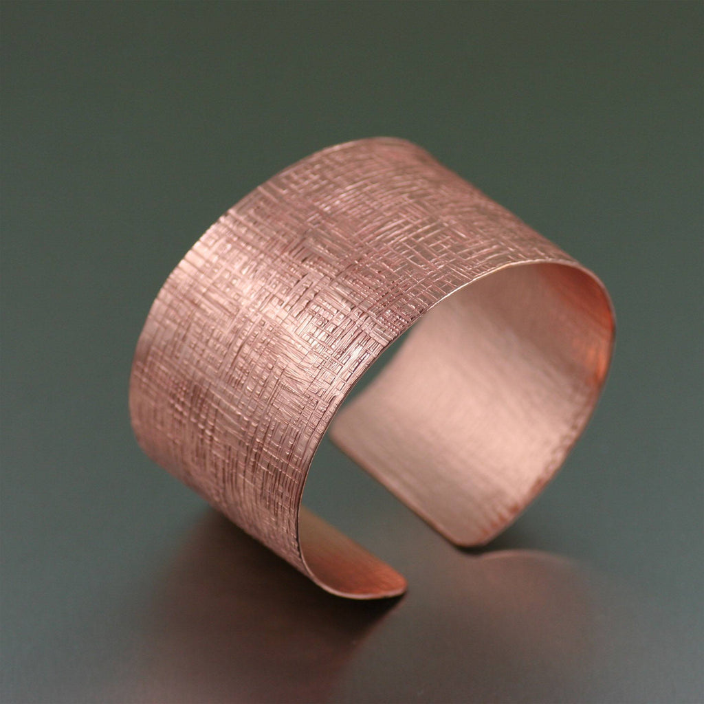 Copper Linen Cuff Bracelet - johnsbrana - 1