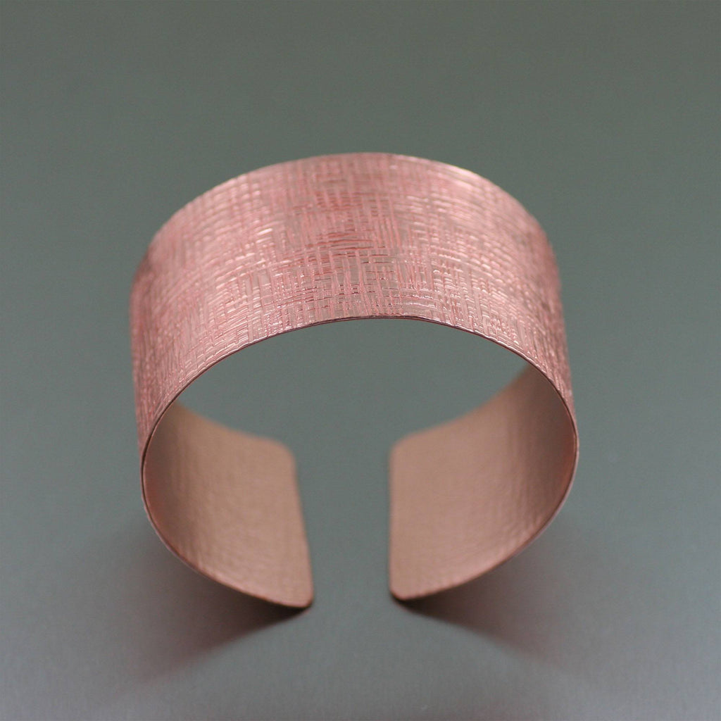 Copper Linen Cuff Bracelet - johnsbrana - 3