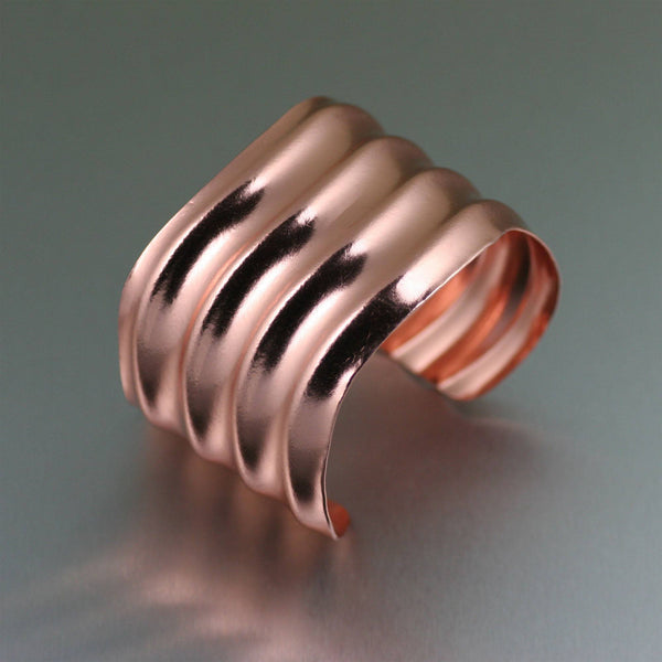 Copper Wave Cuff - johnsbrana - 1
