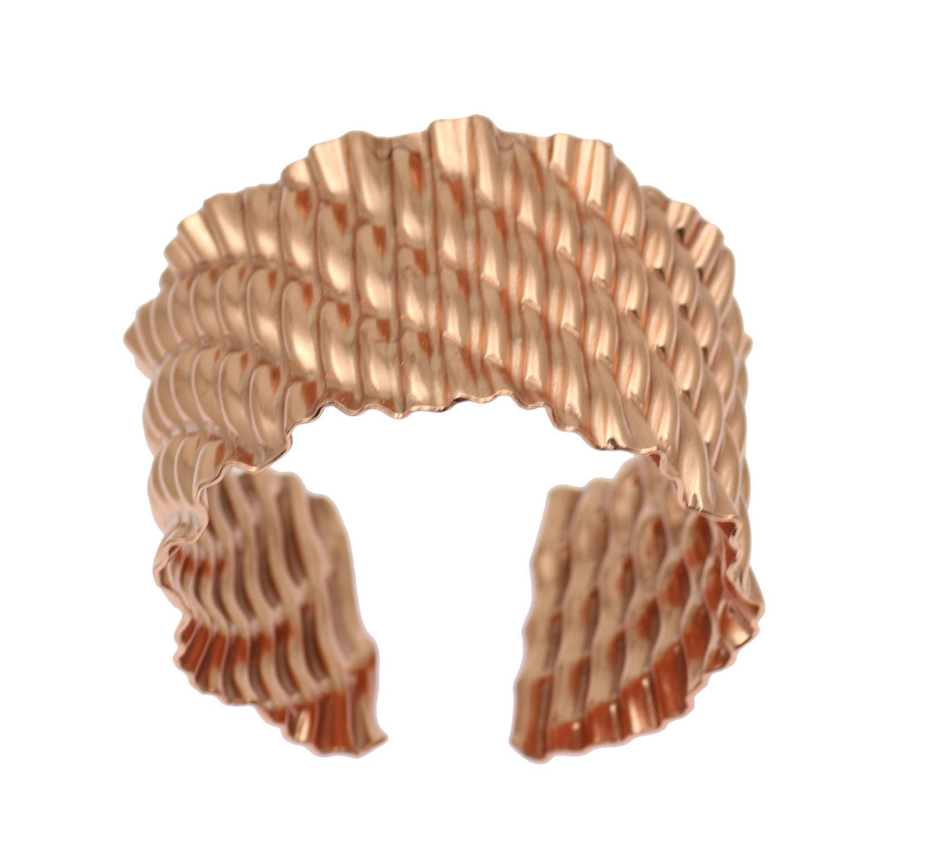 Corrugated Wave Copper Cuff Bracelet - johnsbrana - 6