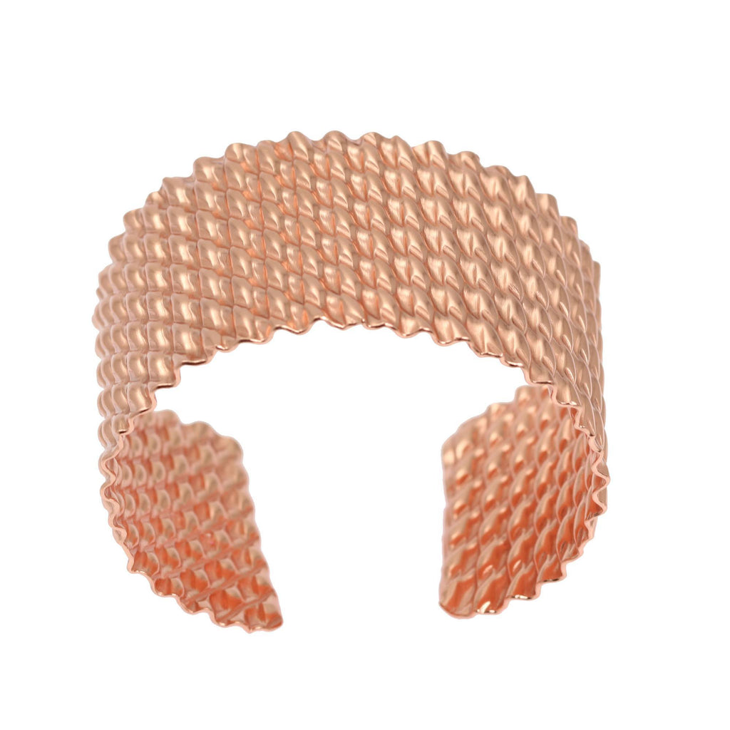 Double Corrugated Copper Cuff - johnsbrana - 2