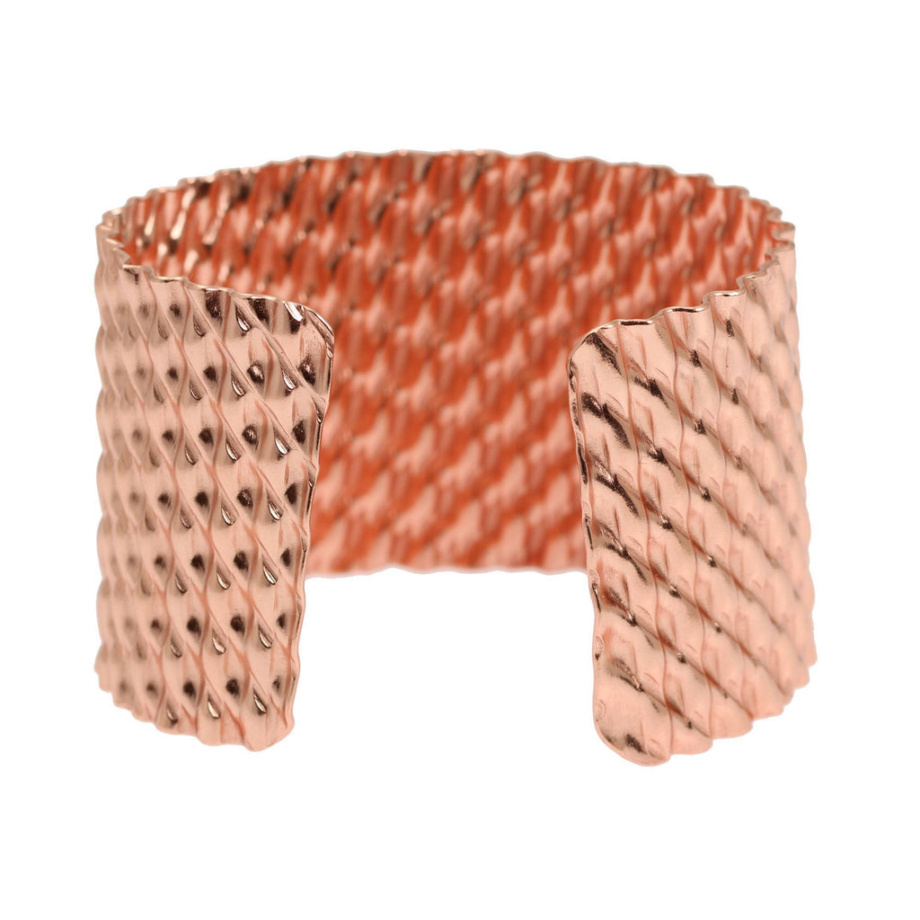 Double Corrugated Copper Cuff - johnsbrana - 3