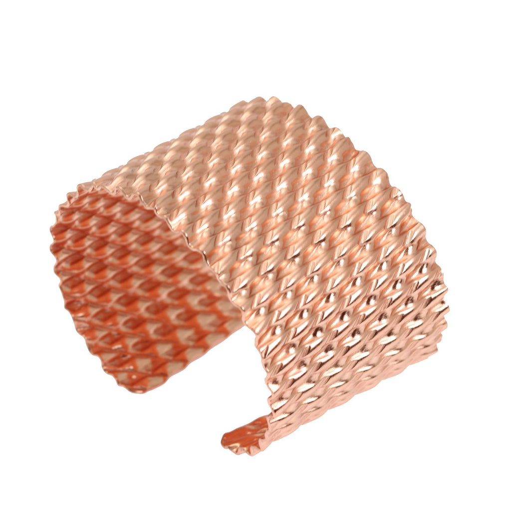 Double Corrugated Copper Cuff - johnsbrana - 4