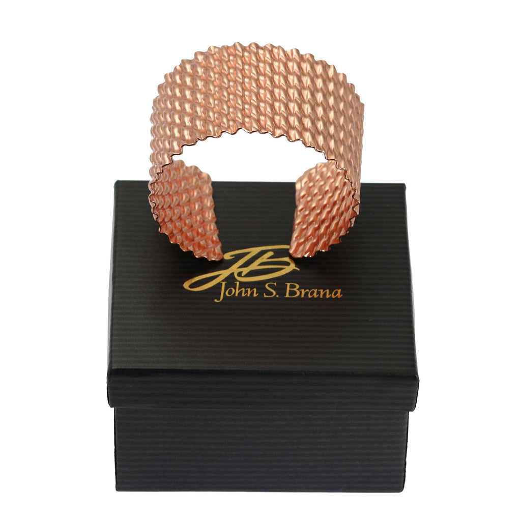 Double Corrugated Copper Cuff - johnsbrana - 5