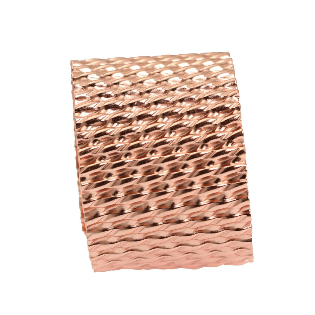 Double Corrugated Copper Cuff - johnsbrana - 6