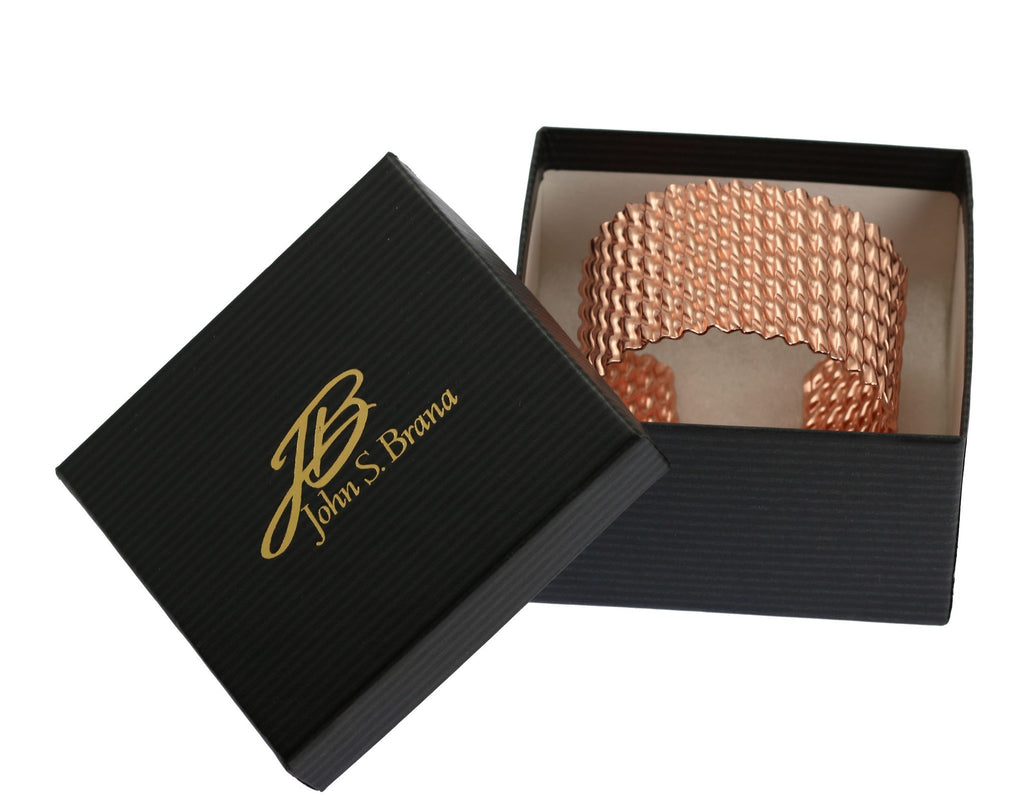 Double Corrugated Copper Cuff - johnsbrana - 7
