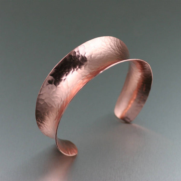 Hammered Copper Anticlastic Cuff - johnsbrana - 1