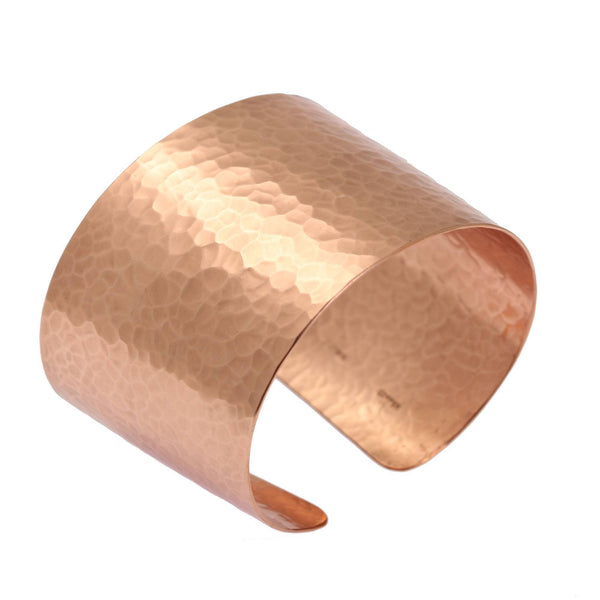 Hammered Copper Cuff Bracelet - johnsbrana - 1
