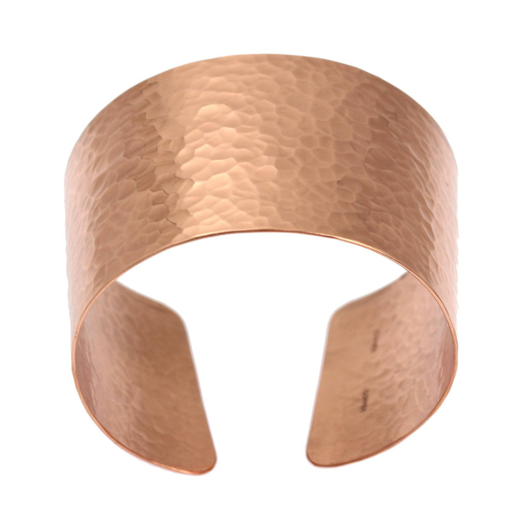 Hammered Copper Cuff Bracelet - johnsbrana - 2