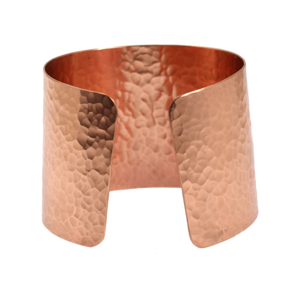 Hammered Copper Cuff Bracelet - johnsbrana - 3