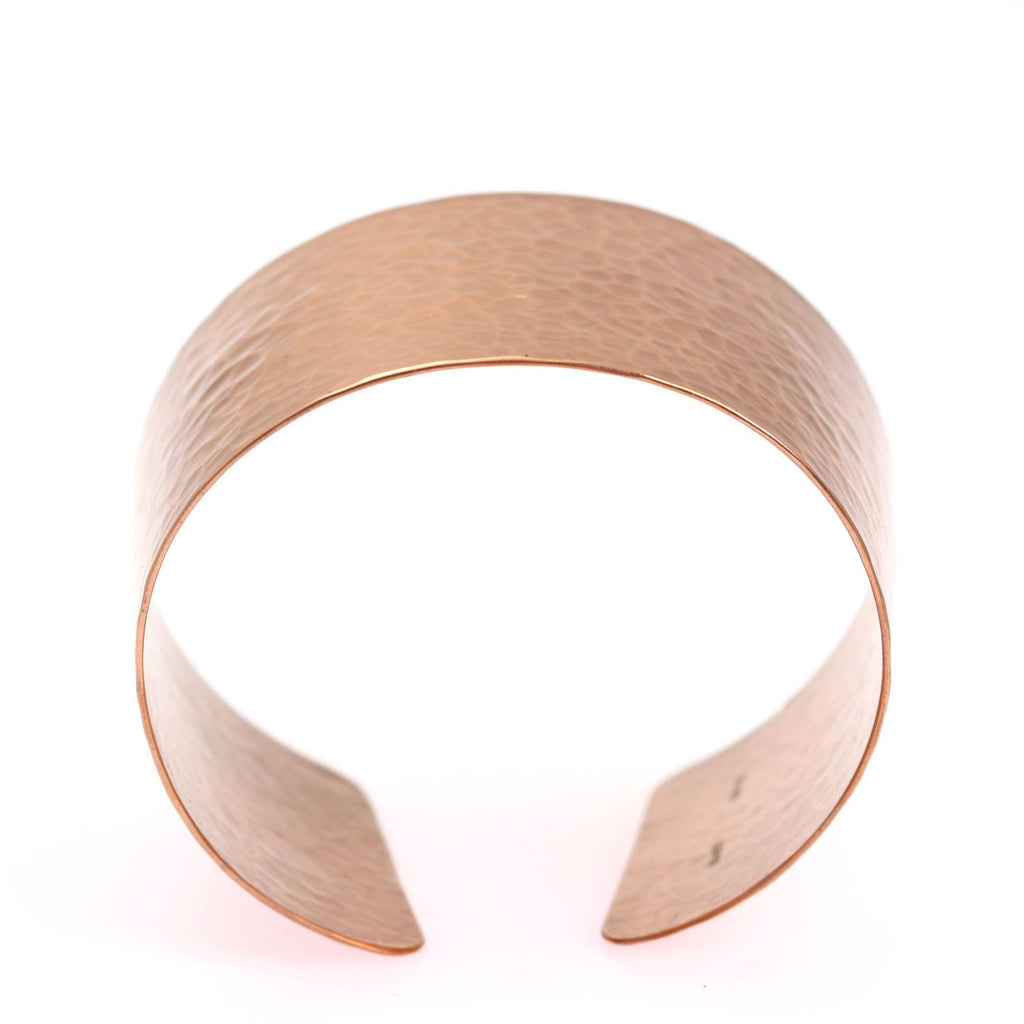 Hammered Copper Cuff Bracelet - johnsbrana - 4