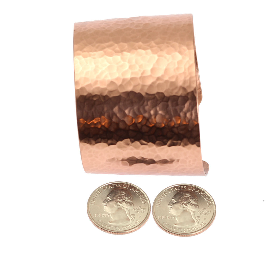 Hammered Copper Cuff Bracelet - johnsbrana - 5