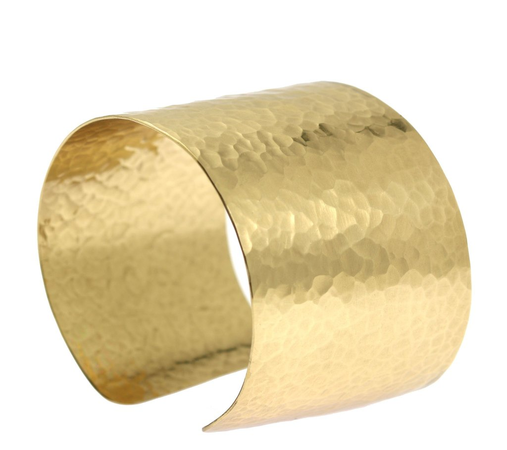 Hammered Nu Gold Brass Cuff