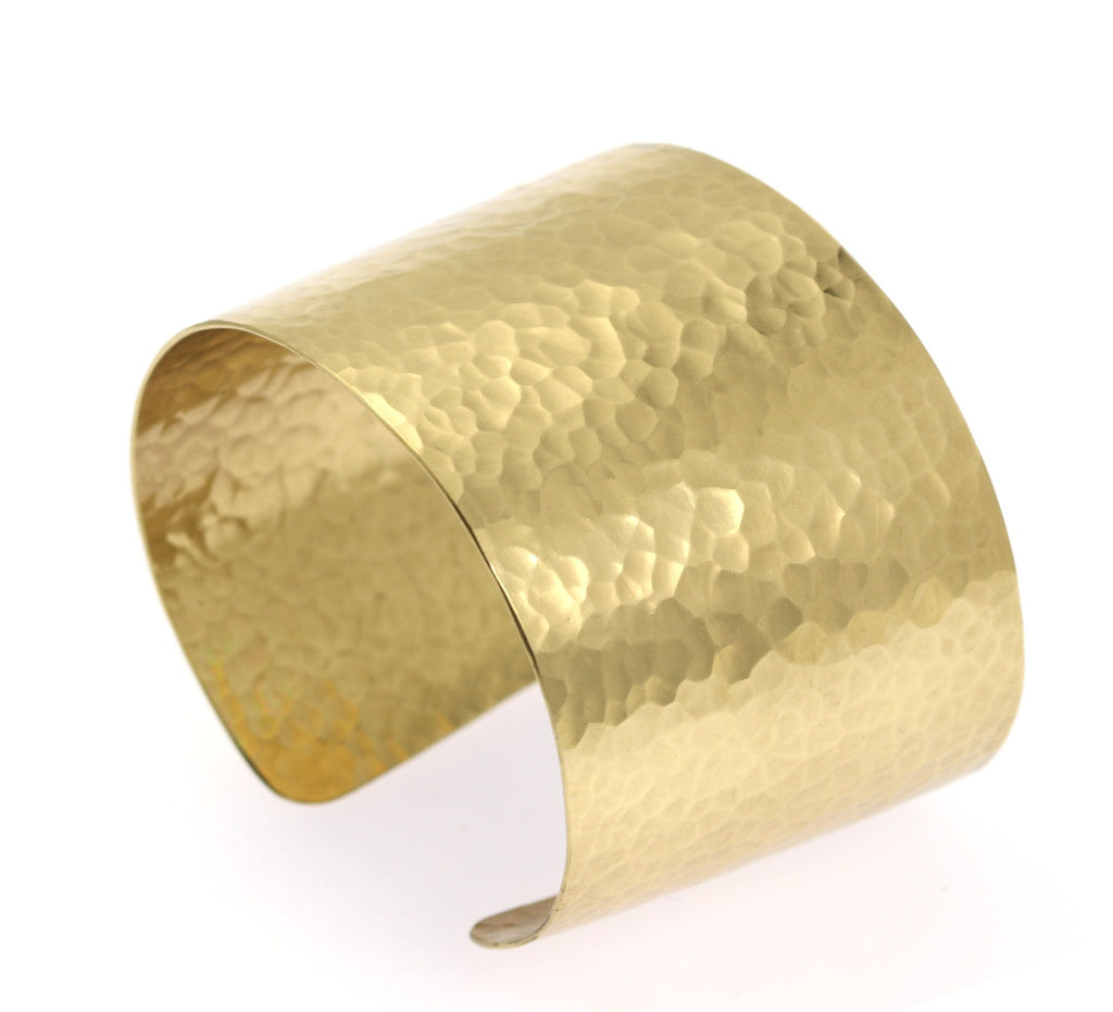 Hammered Nu Gold Brass Cuff - johnsbrana - 3