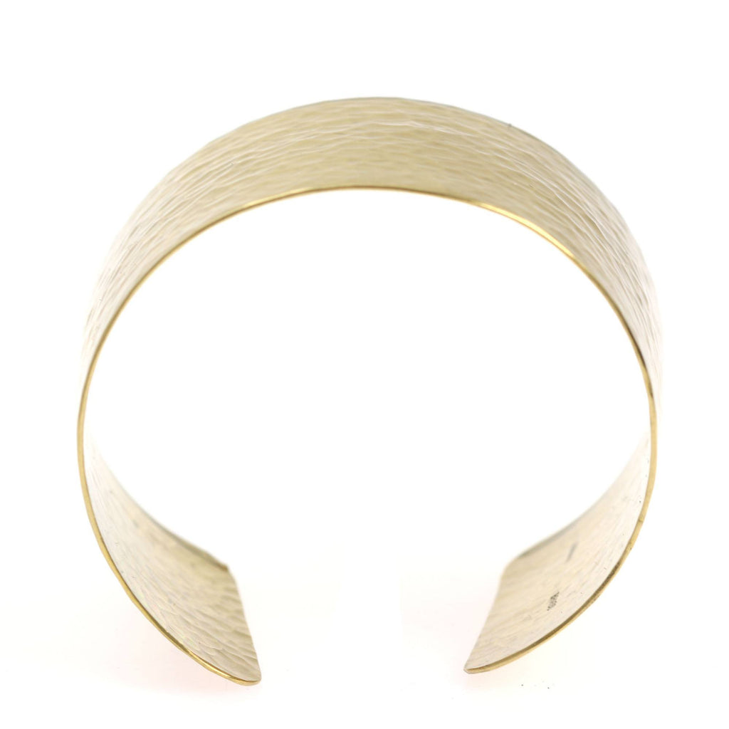 Hammered Nu Gold Brass Cuff - johnsbrana - 4