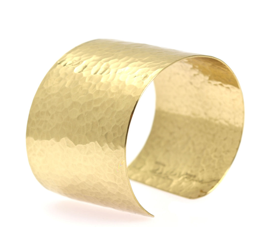 Hammered Nu Gold Brass Cuff - johnsbrana - 5