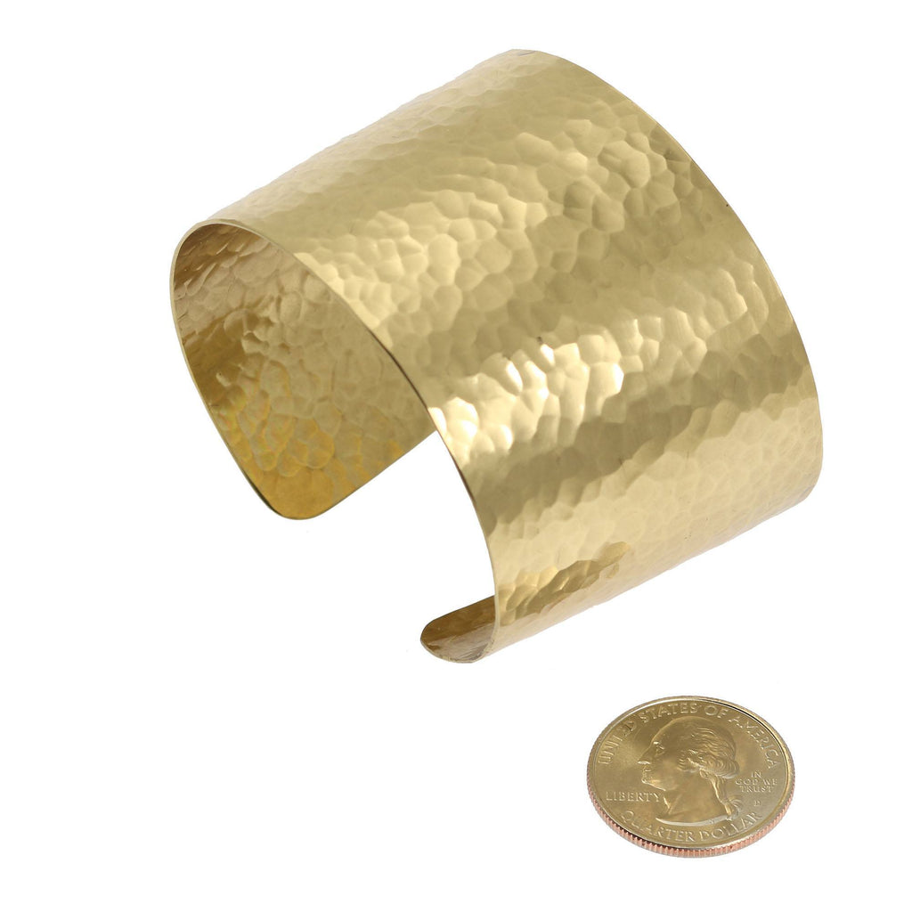 Cuffs - Hammered Nu Gold Brass Cuff