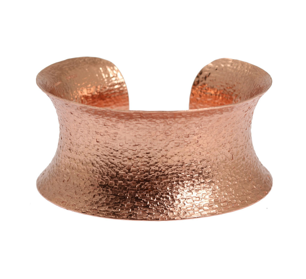 Texturized Copper Cuff Bracelet - johnsbrana - 2
