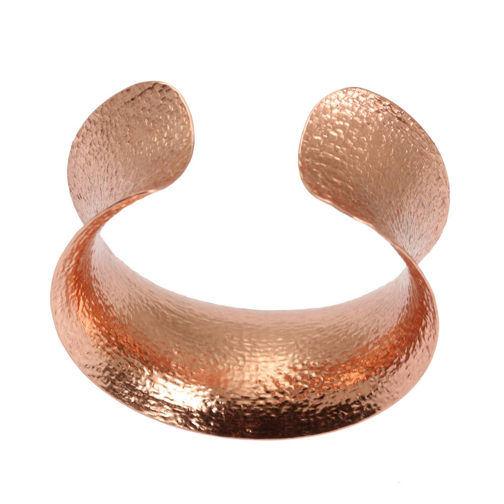 Texturized Copper Cuff Bracelet - johnsbrana - 3