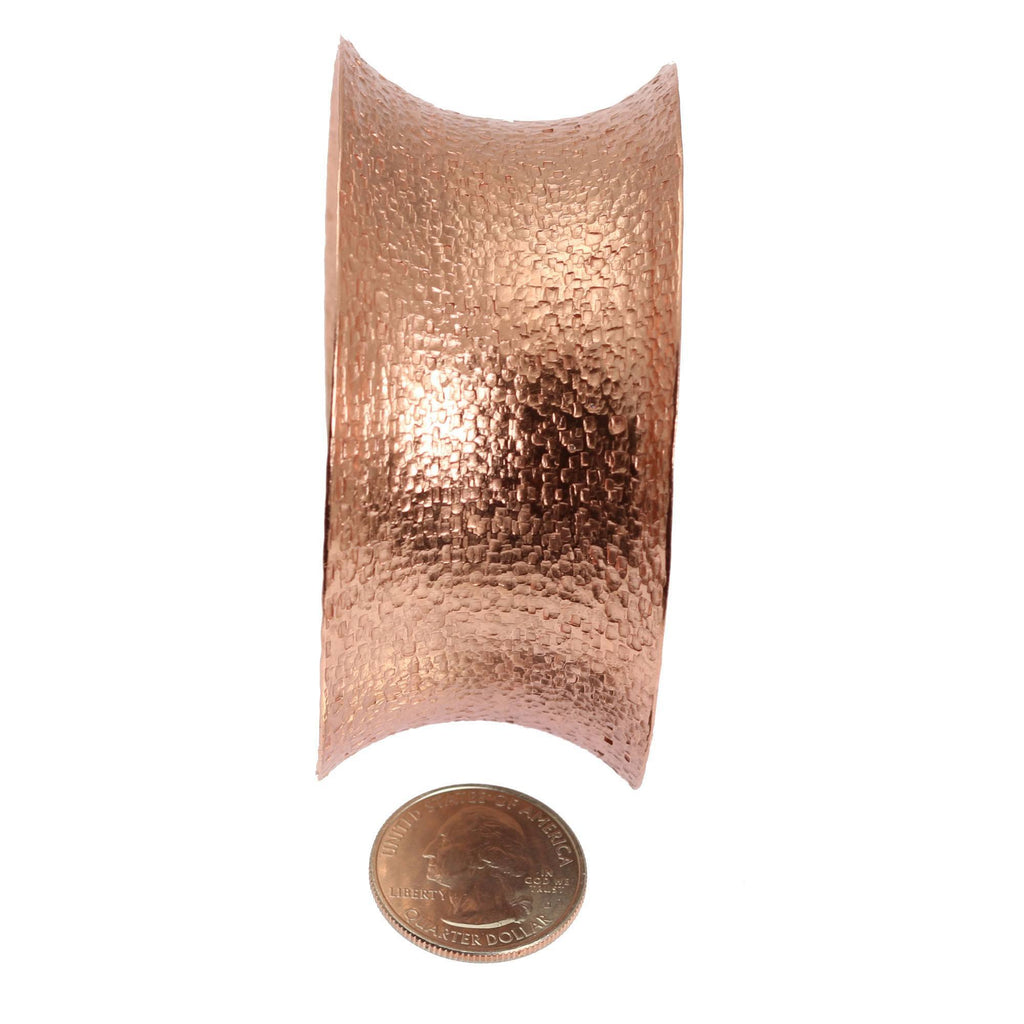 Texturized Copper Cuff Bracelet - johnsbrana - 5