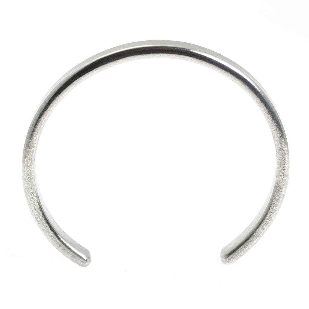 Thin Brushed Aluminum Cuff Bracelet - johnsbrana - 5