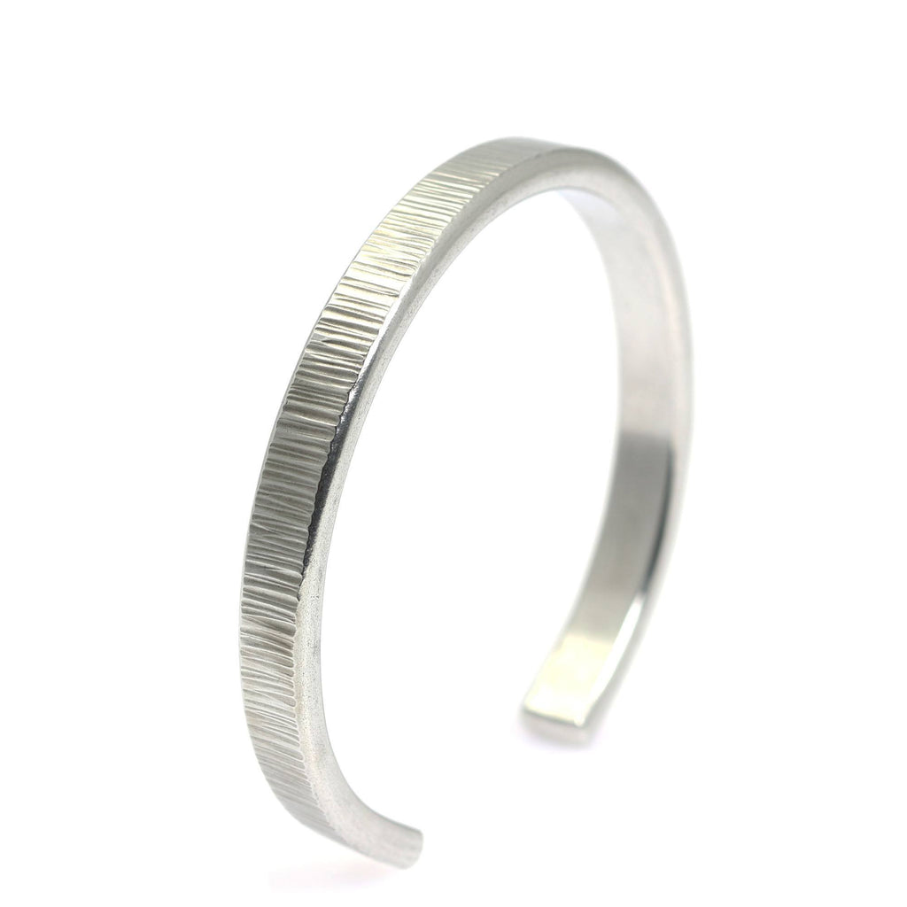 Thin Chased Aluminum Cuff Bracelet - johnsbrana - 1