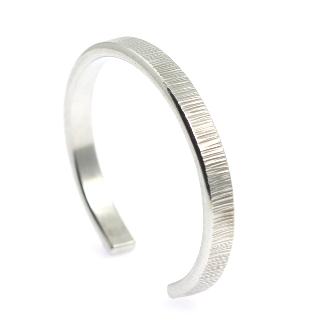 Thin Chased Aluminum Cuff Bracelet - johnsbrana - 2