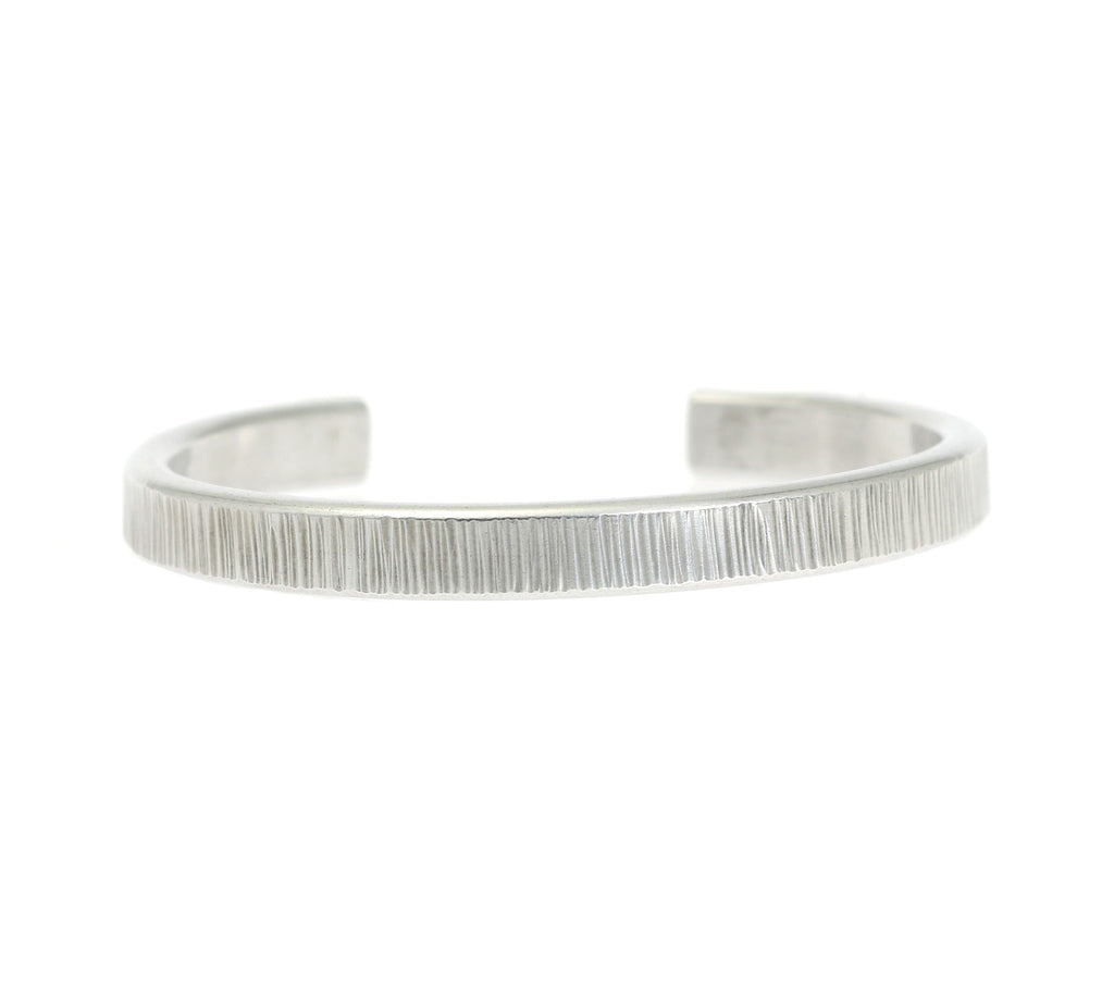 Thin Chased Aluminum Cuff Bracelet - johnsbrana - 5