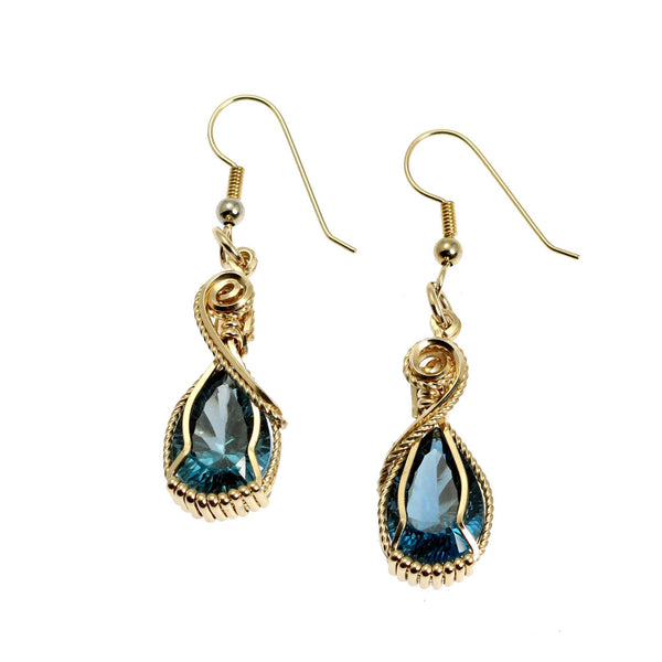 12 CT London Blue Topaz 14K Gold-filled Earrings - johnsbrana - 1