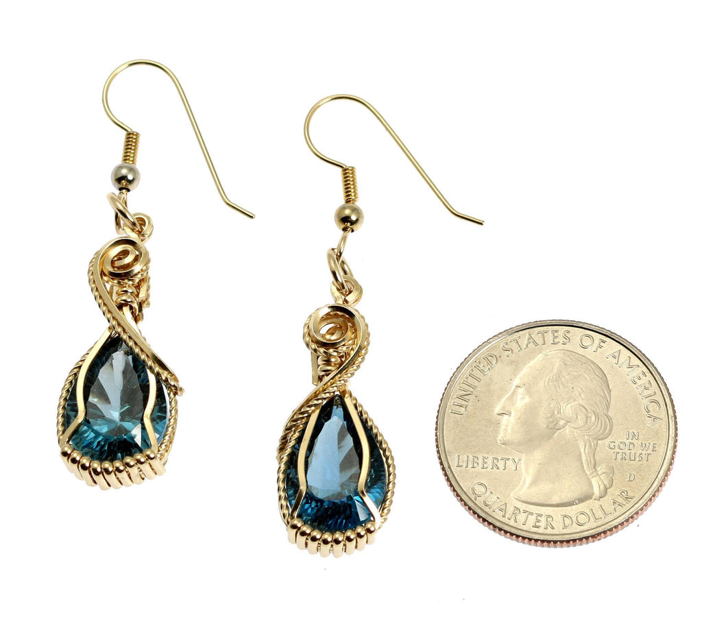 12 CT London Blue Topaz 14K Gold-filled Earrings - johnsbrana - 2