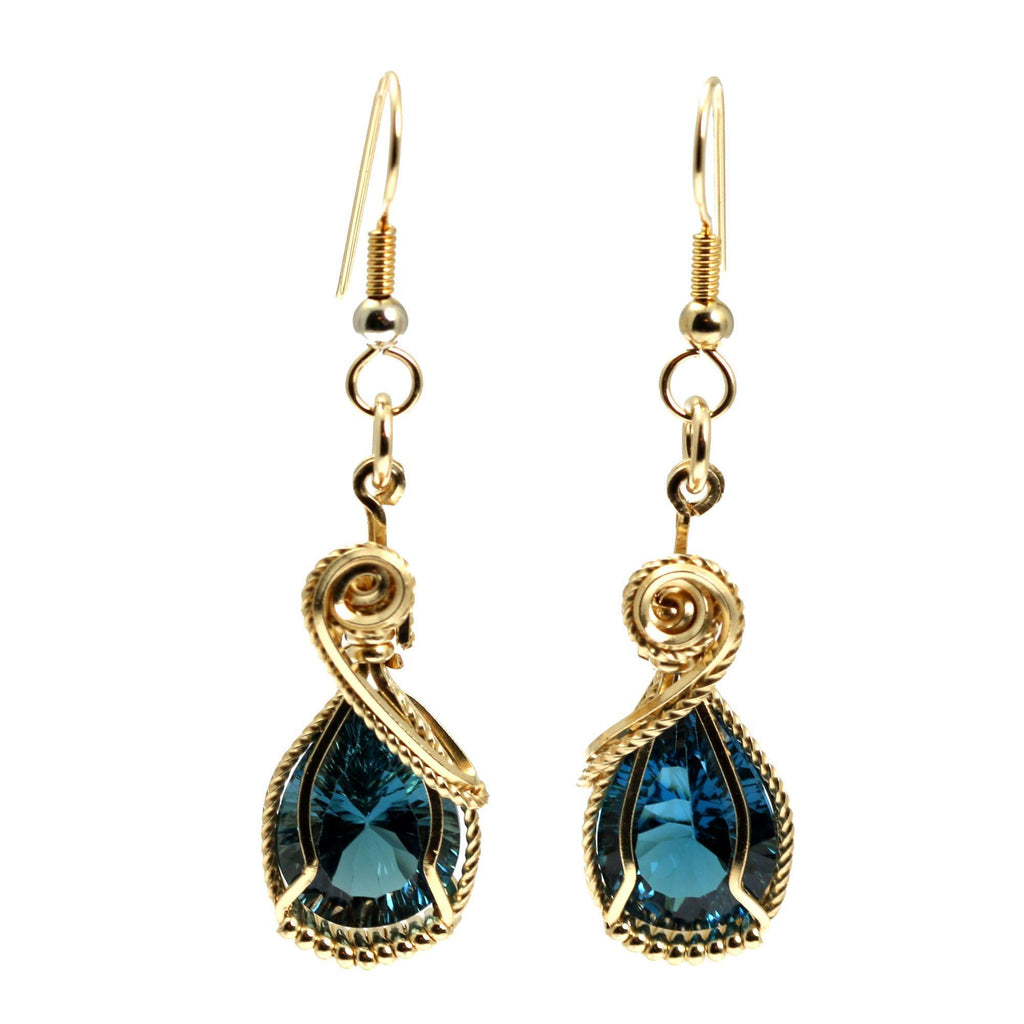 12 CT London Blue Topaz 14K Gold-filled Earrings - johnsbrana - 3