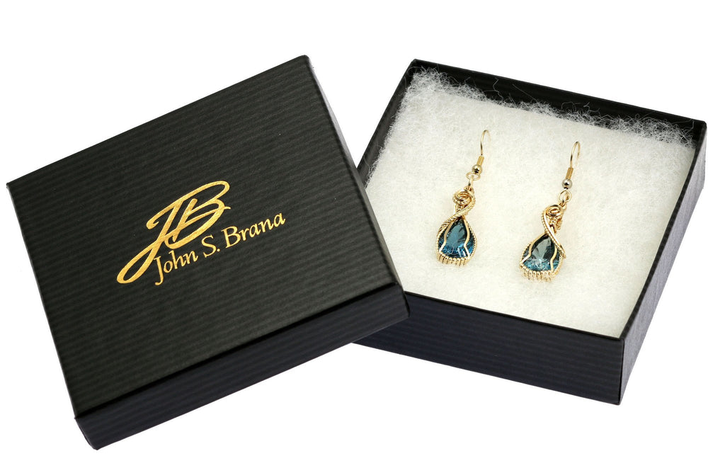 12 CT London Blue Topaz 14K Gold-filled Earrings - johnsbrana - 4