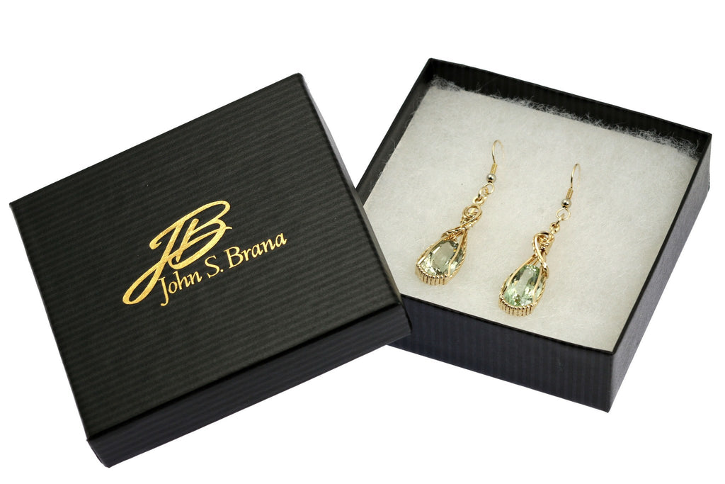 13 CT Brilliant Cut Green Amethyst 14K Gold-filled Earrings - johnsbrana - 4
