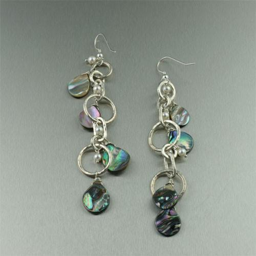 Abalone Fine Silver Earrings - johnsbrana
