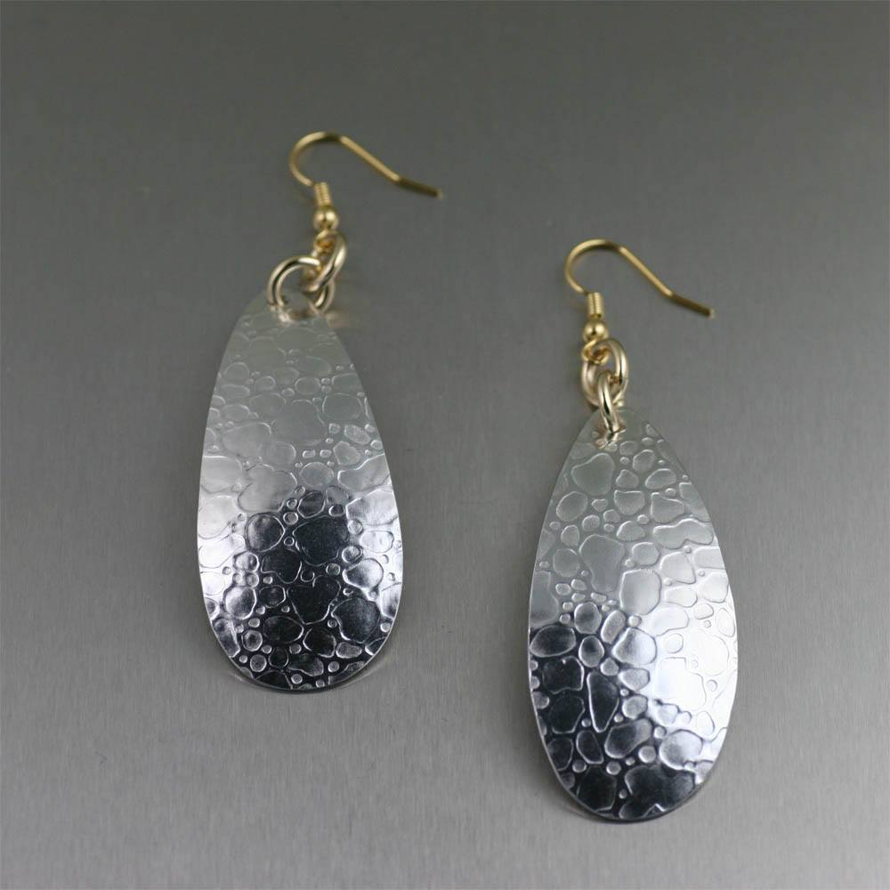 Bubble Embossed Aluminum Earrings - johnsbrana