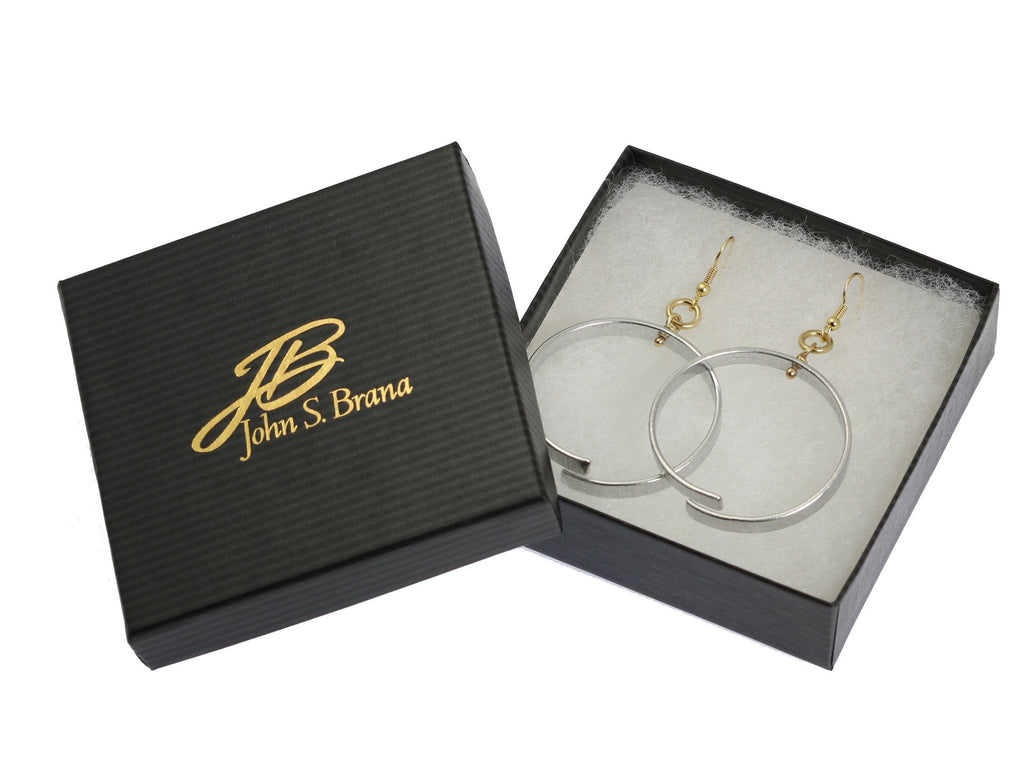 Earrings - Chased Aluminum Hoop Earrings
