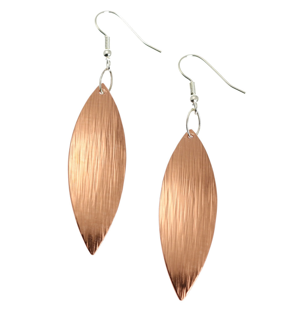Copper Bark Leaf Drop Earrings - johnsbrana - 1