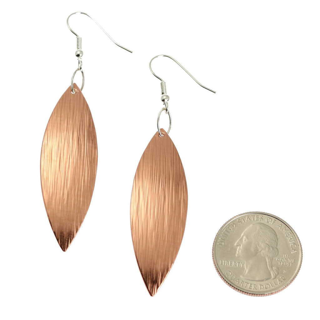 Copper Bark Leaf Drop Earrings - johnsbrana - 2
